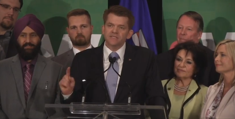 Brian Jean has won the Wildrose leadership race in the first round of ballots with 55 per cent of the vote