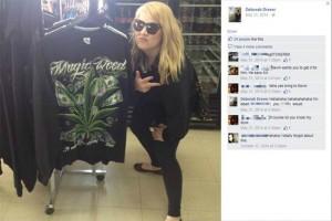 Calgary-Bow MLA-elect Deborah Drever - Pot leaf shirt picture