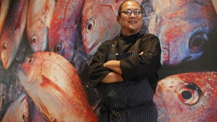 Iron Chef Masaharu Morimoto poses at his restaurant Morimoto in Napa, Calif., Monday, Aug. 16, 2010. The world renowned chef will open his first-ever Morimoto restaurant in Canada this fall. THE CANADIAN PRESS/AP-Eric Risberg