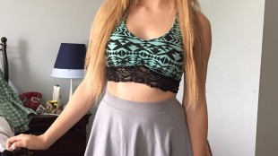 Alexi Halket poses in a crop top shirt in Etobicoke, Ont., in this Monday, May 25, 2015, handout photo. Students may have been rebelling against school-imposed dress codes for decades, but observers say the fact that those protests are now making national headlines suggests a fundamental shift in social attitudes. Earlier this week, Alexi Halket made headlines by organizing a protest against perceived fashion rules at her Toronto-area arts school. THE CANADIAN PRESS/HO - Sandra Halket