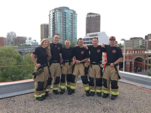 Six firefighters hanging out on this Beltline area rooftop all weekend