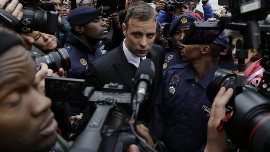 Pistorius shown in TV interview ahead of murder sentence
