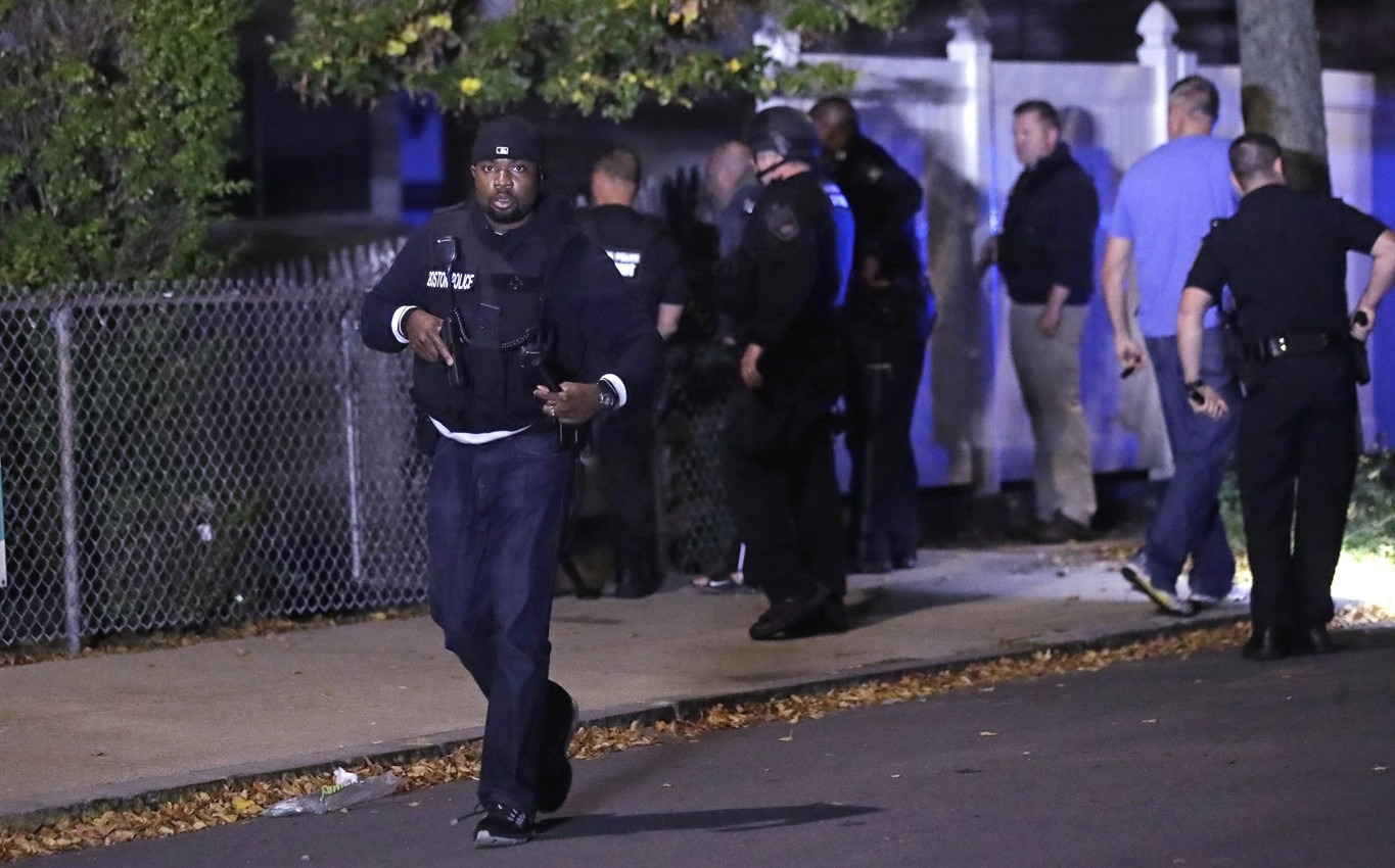 Two Boston Police Officers shot
