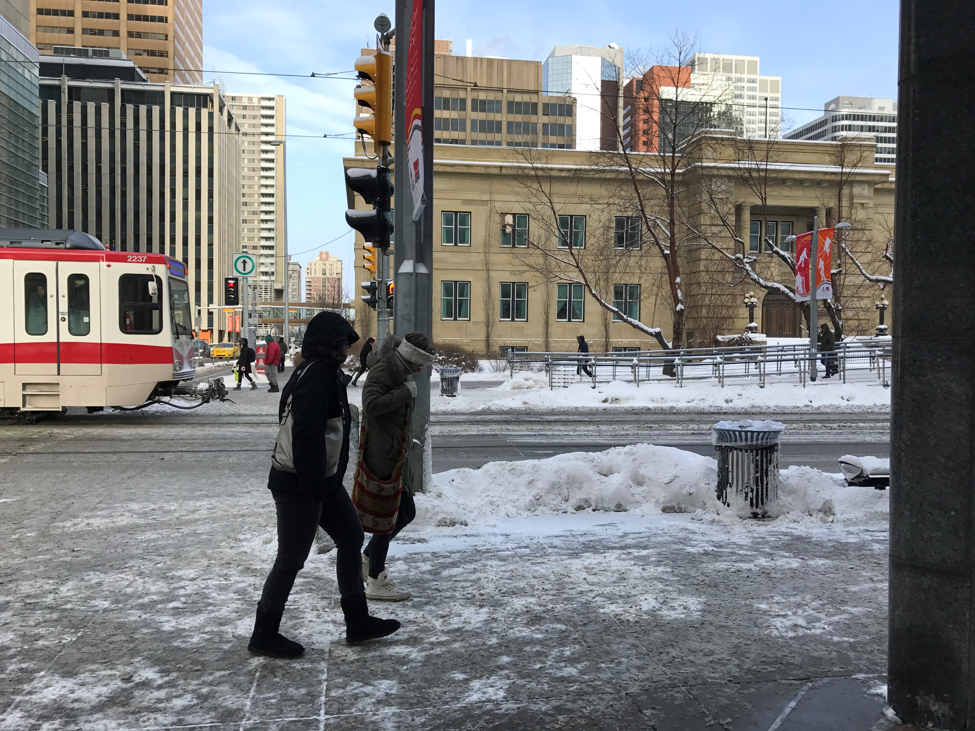 Winter Weather Arrives In Calgary