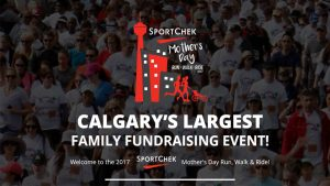 Register today for the Sport Chek Mother's Day Run, Walk & Ride!