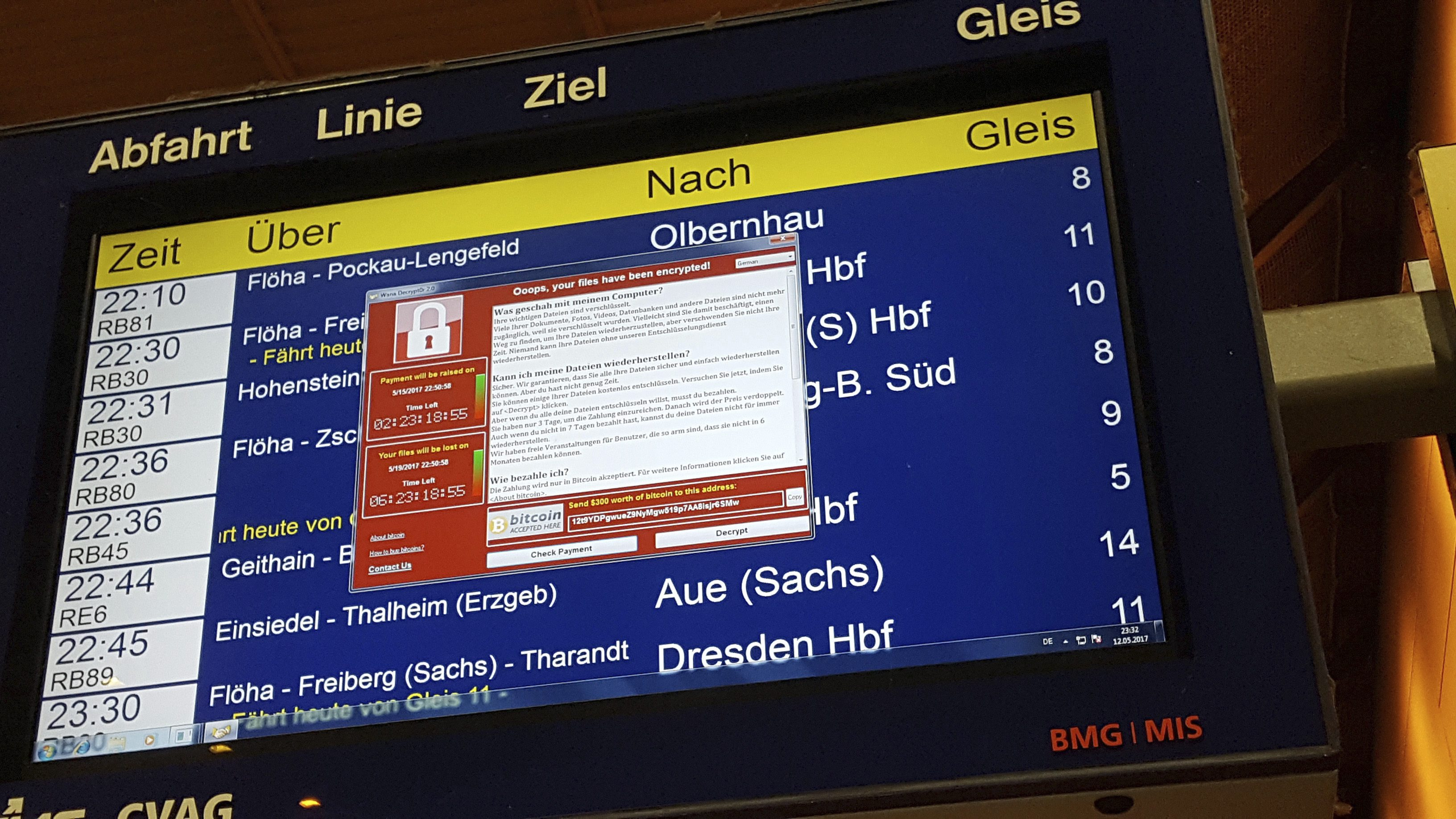 Germany's national railway says that it was among the organizations affected by the global cyberattack