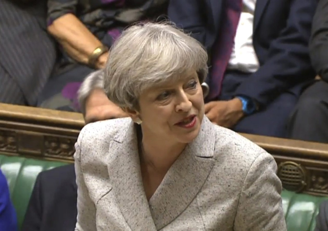 Britain's May urges Northern Irish government deal by June 29