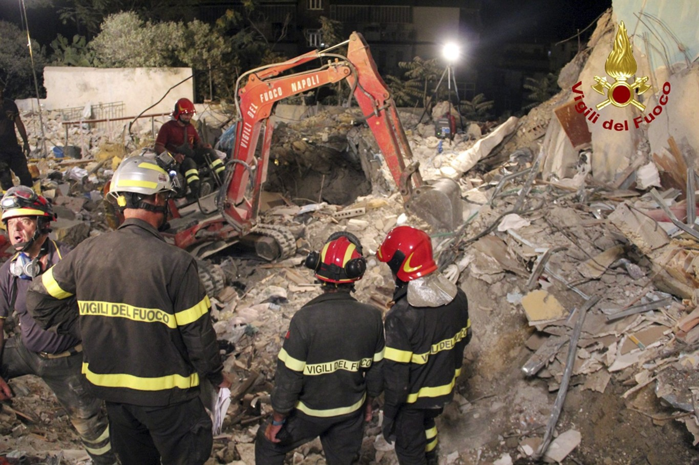 Naples Tower Block Collapses and People Feared Trapped