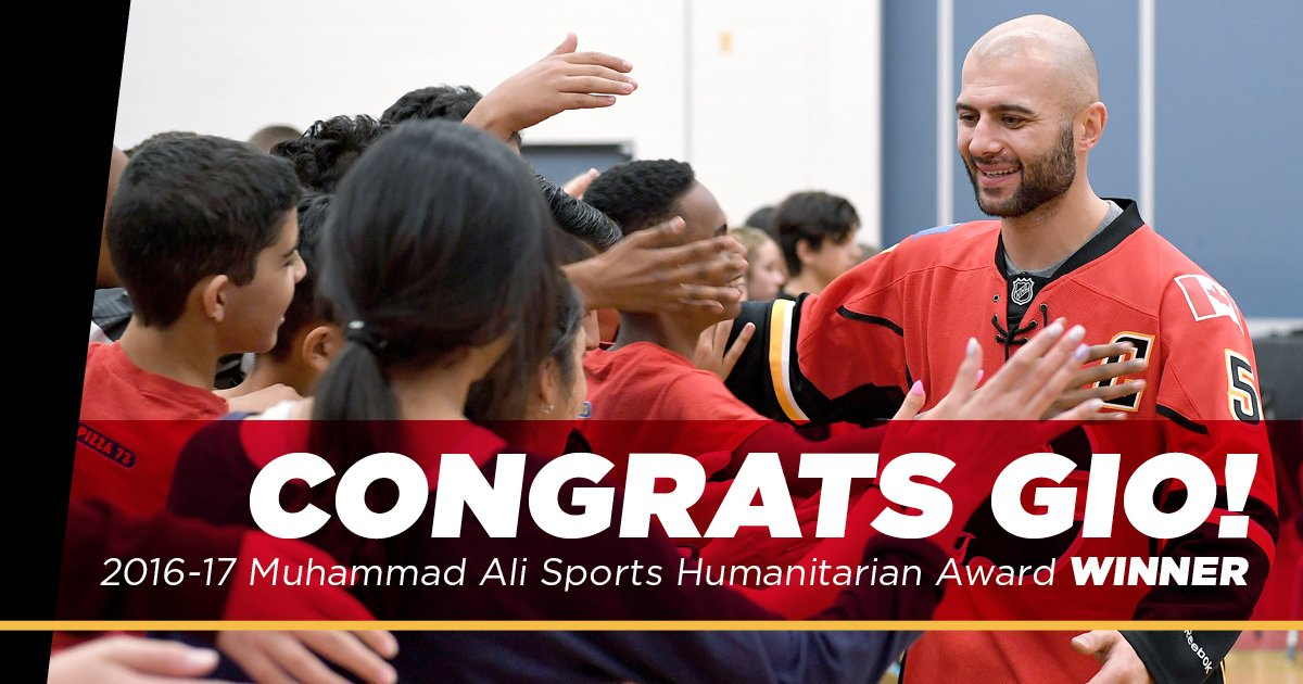 Mark Giordano named Sports Humanitarian of the Year