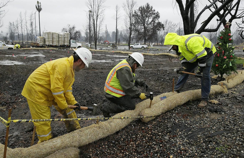 California burn areas brace for rain, possible mudslides