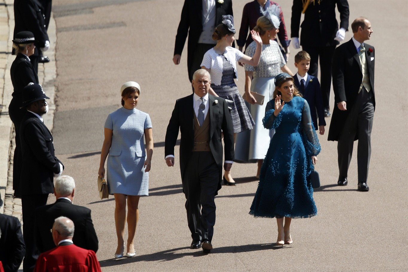 0b657519 It's all about the well-plumed hats for royal wedding guests