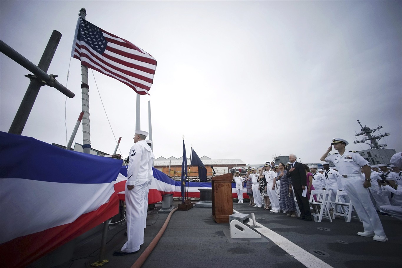 US Navy dedicates Japan-based destroyer to US Sen  McCain
