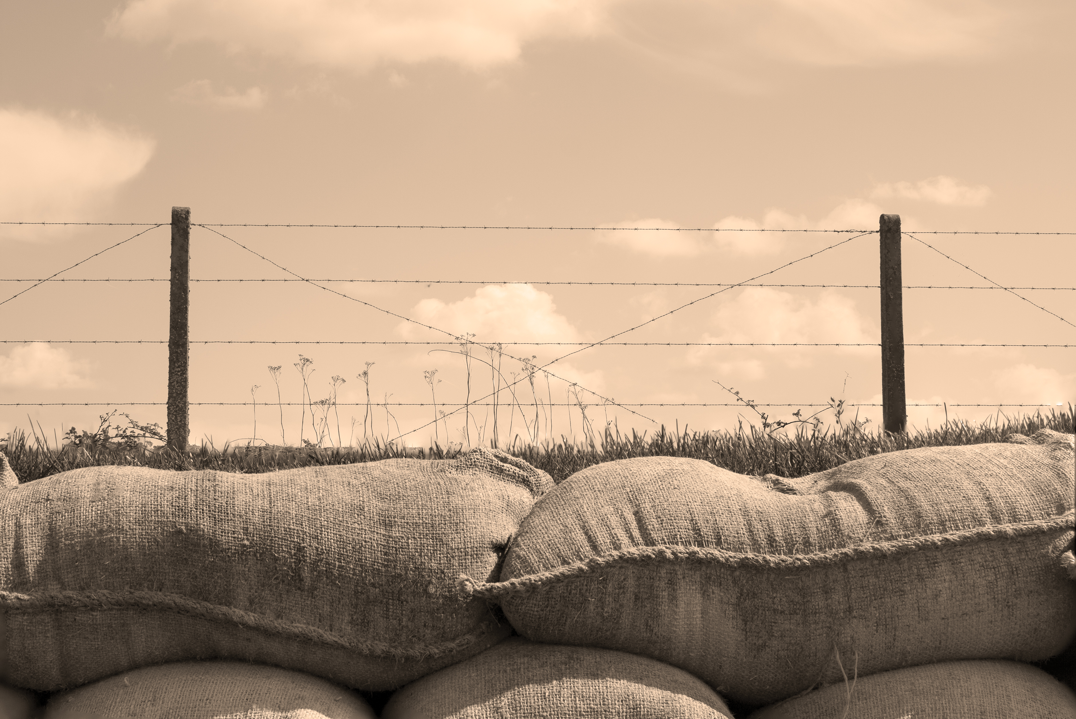 WWI Trenches of death world war one sandbags in Belgium - 660 NEWS