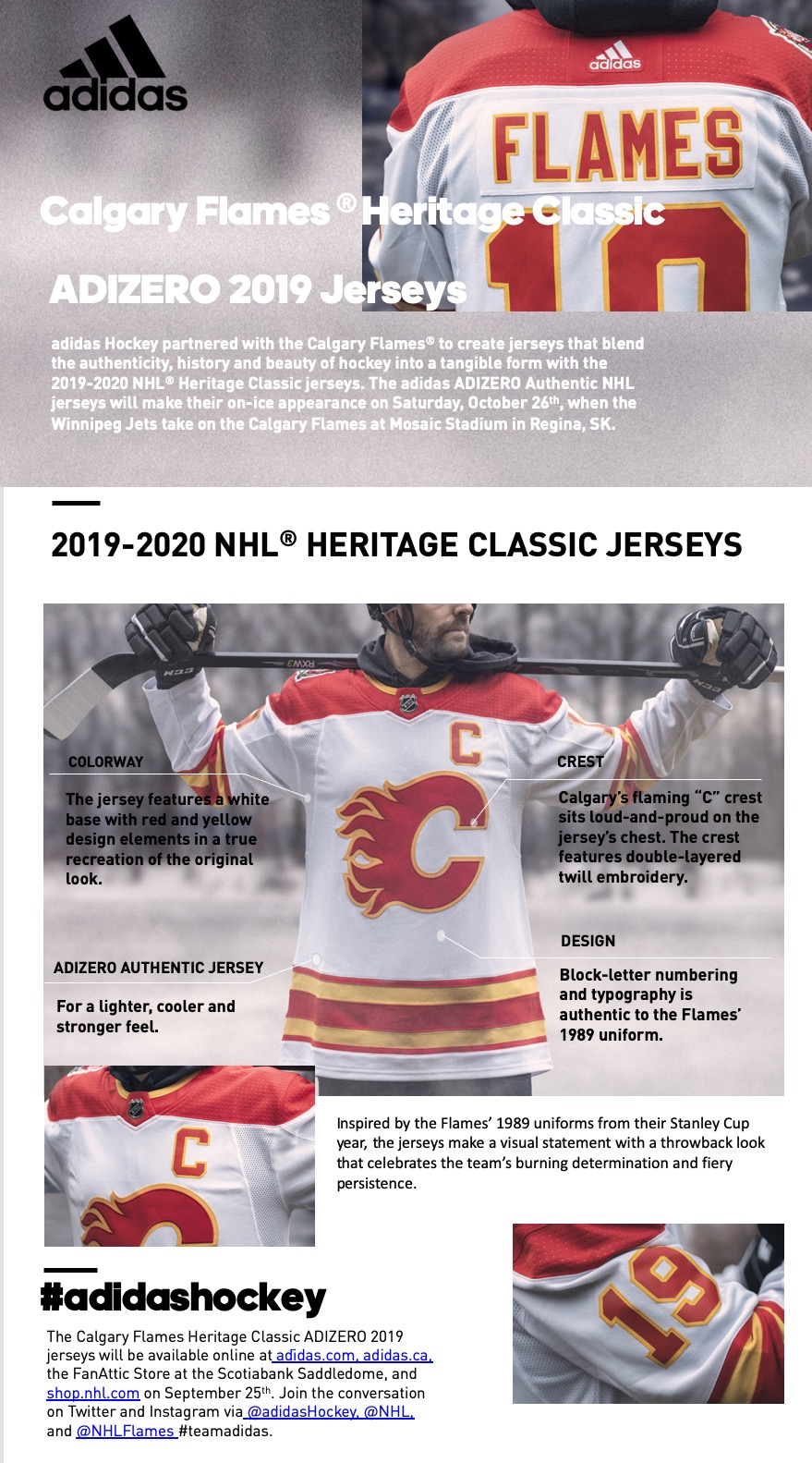 pretty nice b069d c0754 Flames unveil 2019-20 Heritage Classic jersey - 660 NEWS
