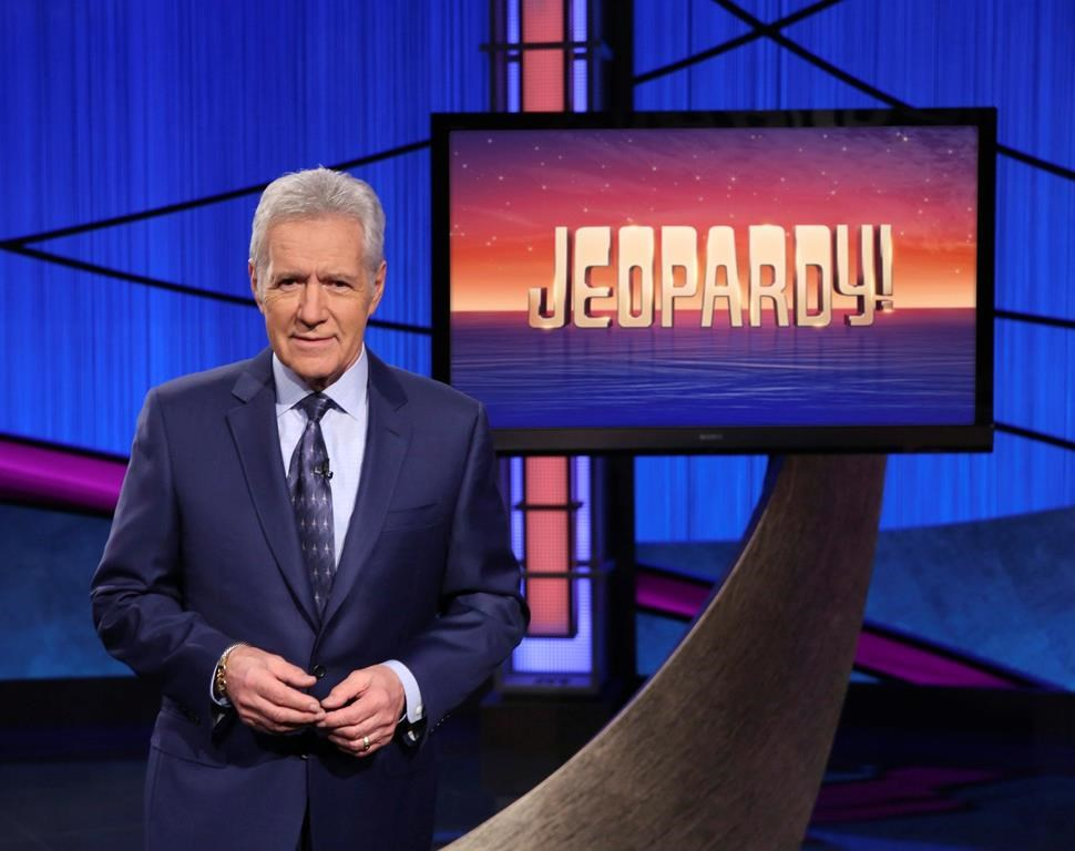 FILE- This image released by Jeopardy! shows Alex Trebek host of the game show