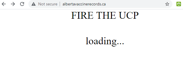 Albertans looking for COVID vaccine card end up on 'Fire the UCP' site